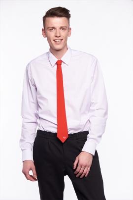 Белая классическая приталенная мужская сорочка, длинный рукав СЧ-19 д/р уз
